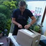 Das Paket mit den Büchern